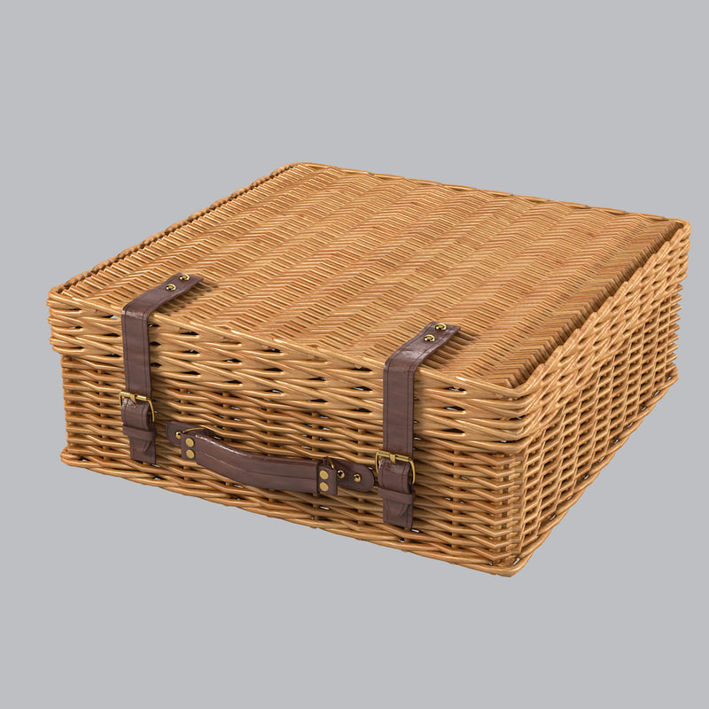 b picnic wicker suitcase baskert bag case  gift flower basket woven fiber rattan bin storage country container decorative decor 0001.jpg