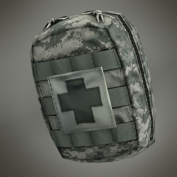 Compact Army Individual First Aid Kit (IFAK) 3D Models