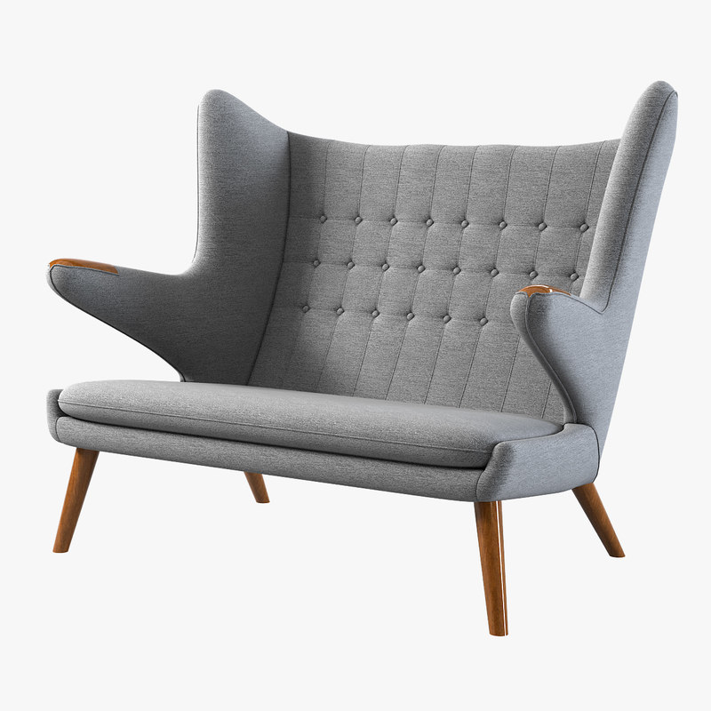 a papa bear wing sette loveseat love seat sofa small hans j wegner designer designers famous lounge club relax vintage retro style modern contemporary tufted 42572 44132.jpg