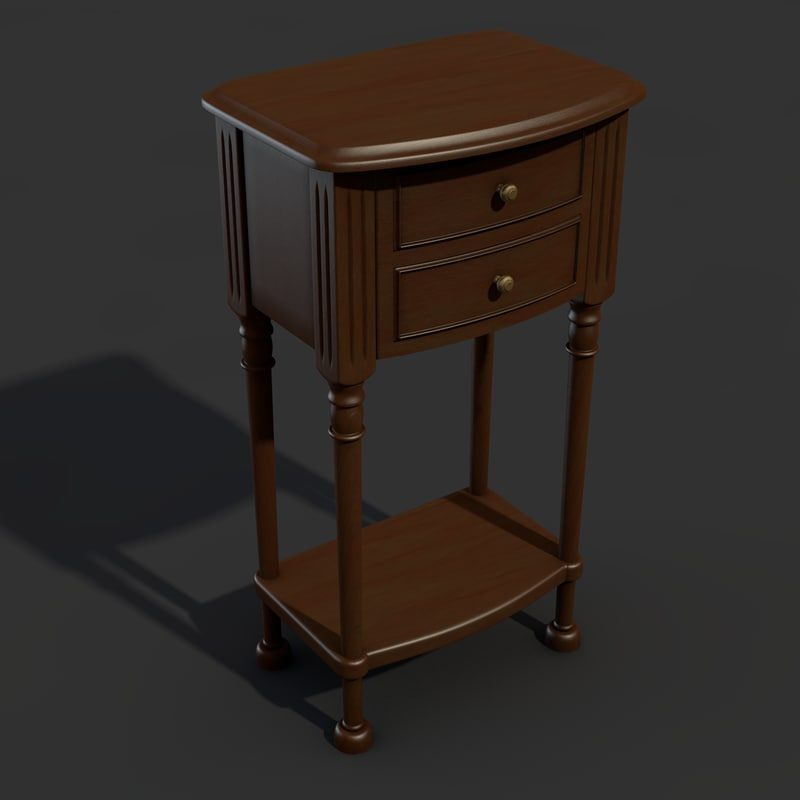nightstand table 3d c4d