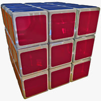 rubik's cube 3D models
