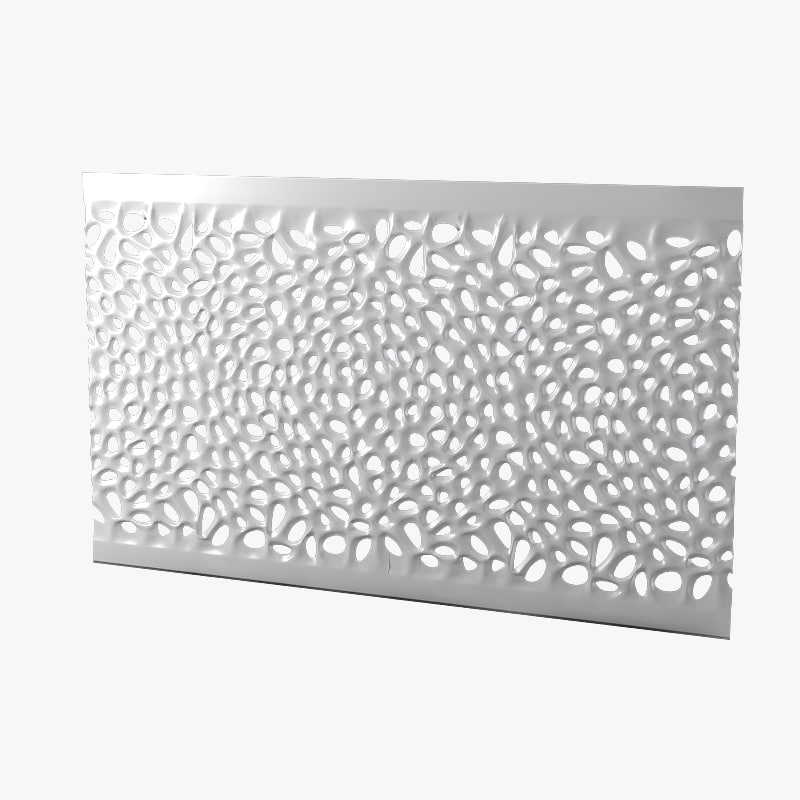 a Corian Modern wall perforated contemporary wave wall panel math serie Voronoi0001.jpg