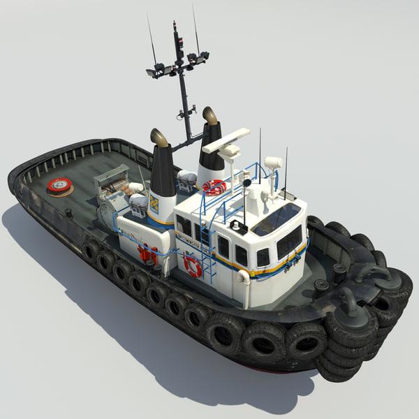 Tug Boat 3D Models