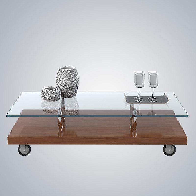 b cattelan italia Parsifal side coffee glass tbale vase rectangular serving wheel0001.jpg
