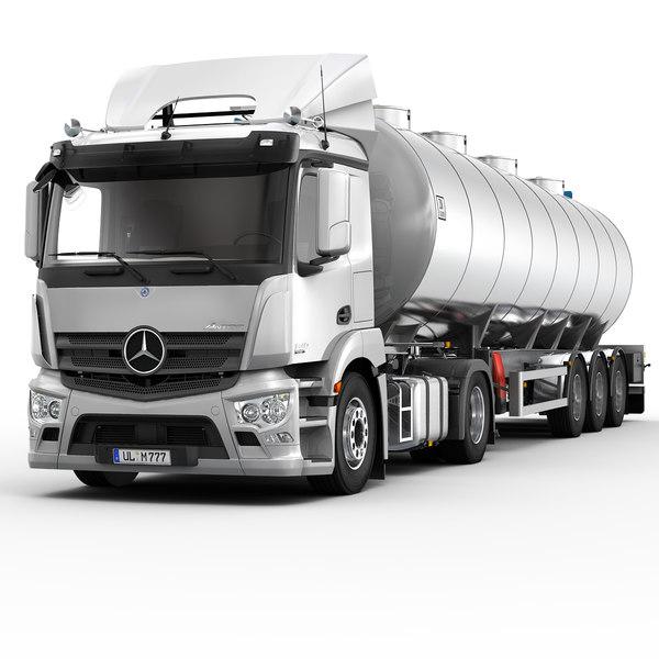 Mercedes Antos (Trailer Tank) 3D Models