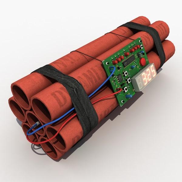 Time Bomb TNT 3D Models