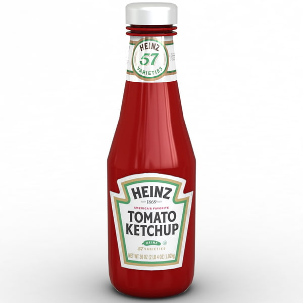 Ketchup Bottle Heinz 3D Models