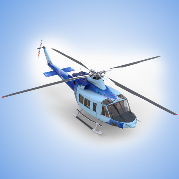 Bell 412 EP with Cockpit 3D Models