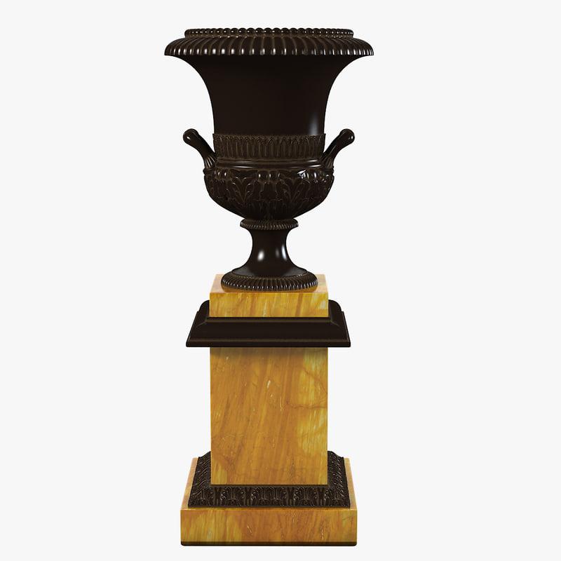 a victorian cast iron garden urn baroque classic vase planter vintage antique planter0001.jpg