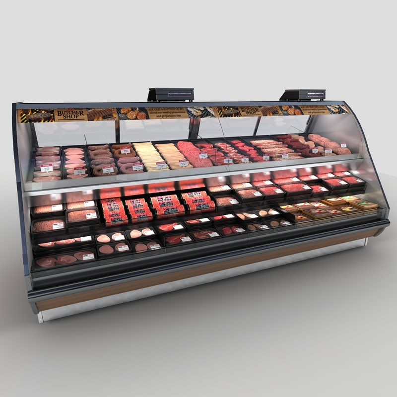 butcher case 3d model