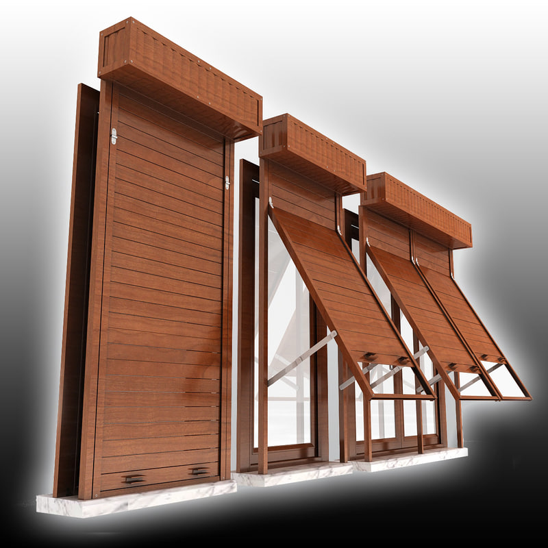Window shutter 3d 3ds for Window 3d model