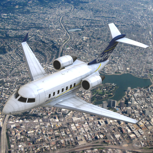 Bombardier Challenger 605 3D Models