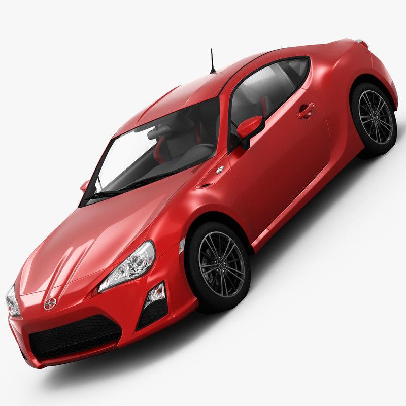 Scion Fr S Sports Car 3d Model