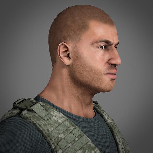 Soldier Mercenary - Low Poly 3D Models