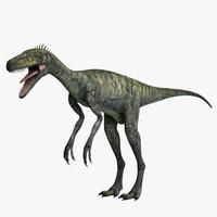 Herrerasaurus Coelophysis 3D models