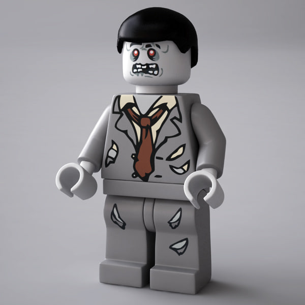 LEGO Zombie Rigged