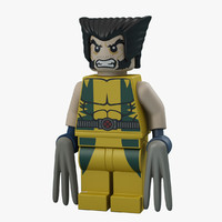 wolverine character 3D models