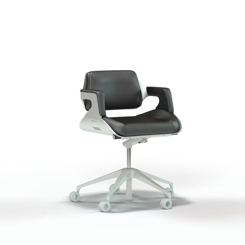 interstuhl silver office chair 3d max