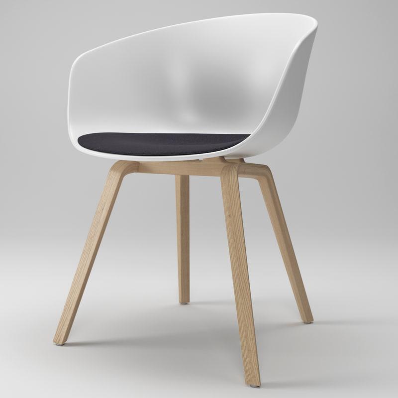 3d model chair hay. Black Bedroom Furniture Sets. Home Design Ideas