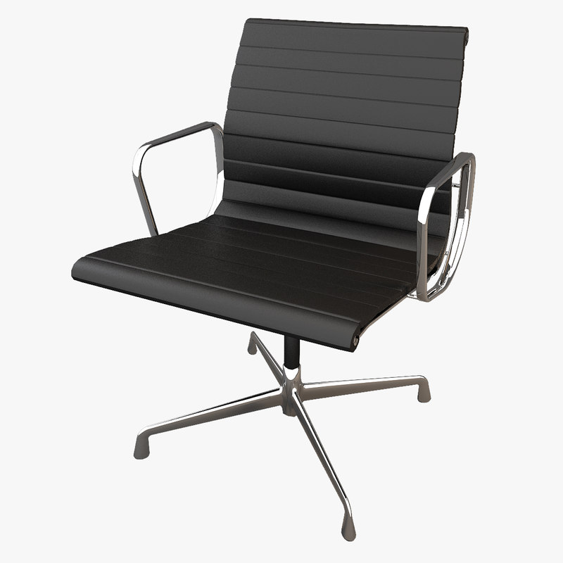 3d model eames aluminium chair. Black Bedroom Furniture Sets. Home Design Ideas