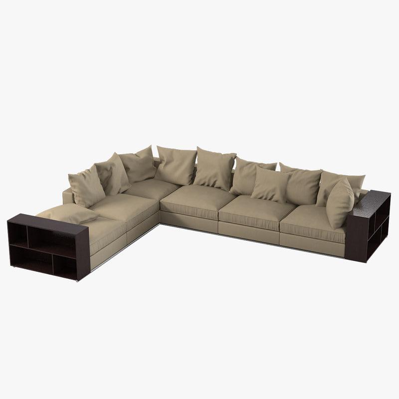 a Flexform Groundpiece modern contemporary sectional sofa0001.jpg