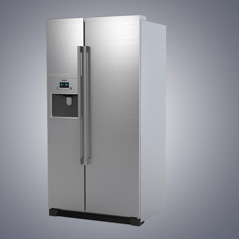 3d siemens ka60na45 rrefrigerator model. Black Bedroom Furniture Sets. Home Design Ideas