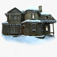 winter house 3d models