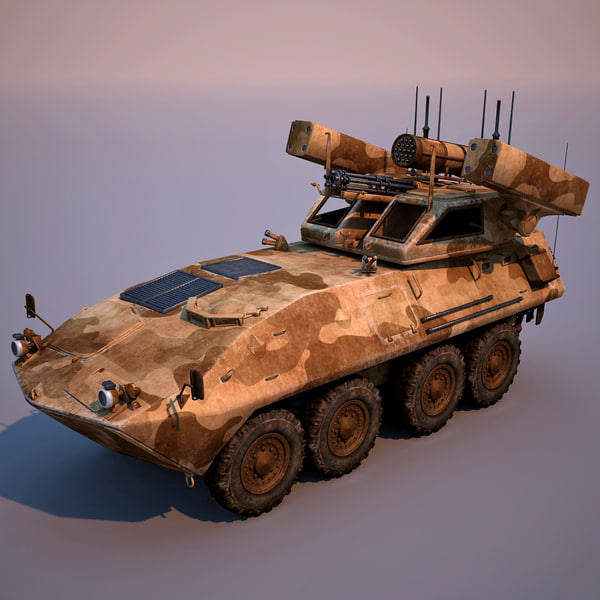 LAV-AD Air Defense Vehicle 3D Models