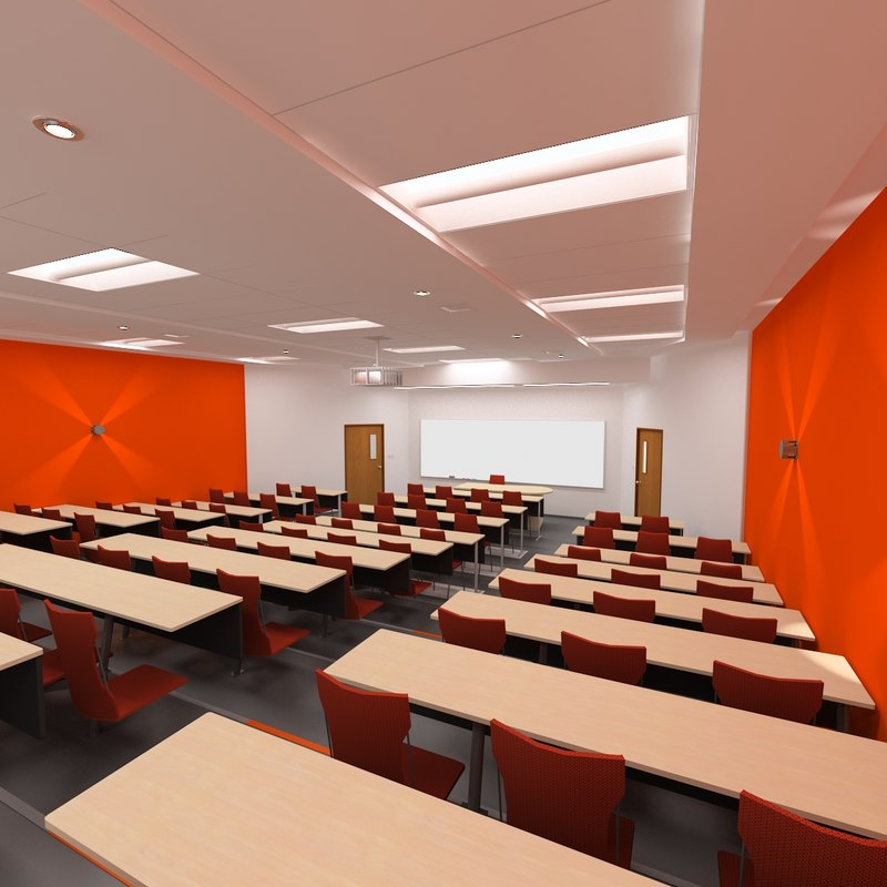 Classroom Design Specifications ~ Ds max university school laboratory