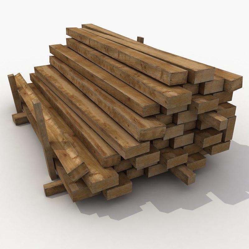 3d wooden wood beam model for Wood beams