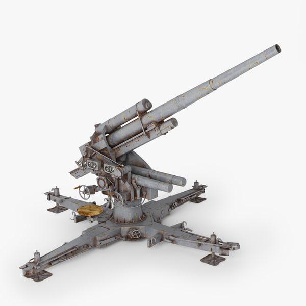 Flak 88 3D Models