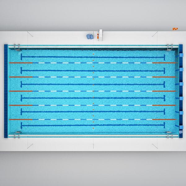3d Pool Models Max 3ds Obj Fbx C4d