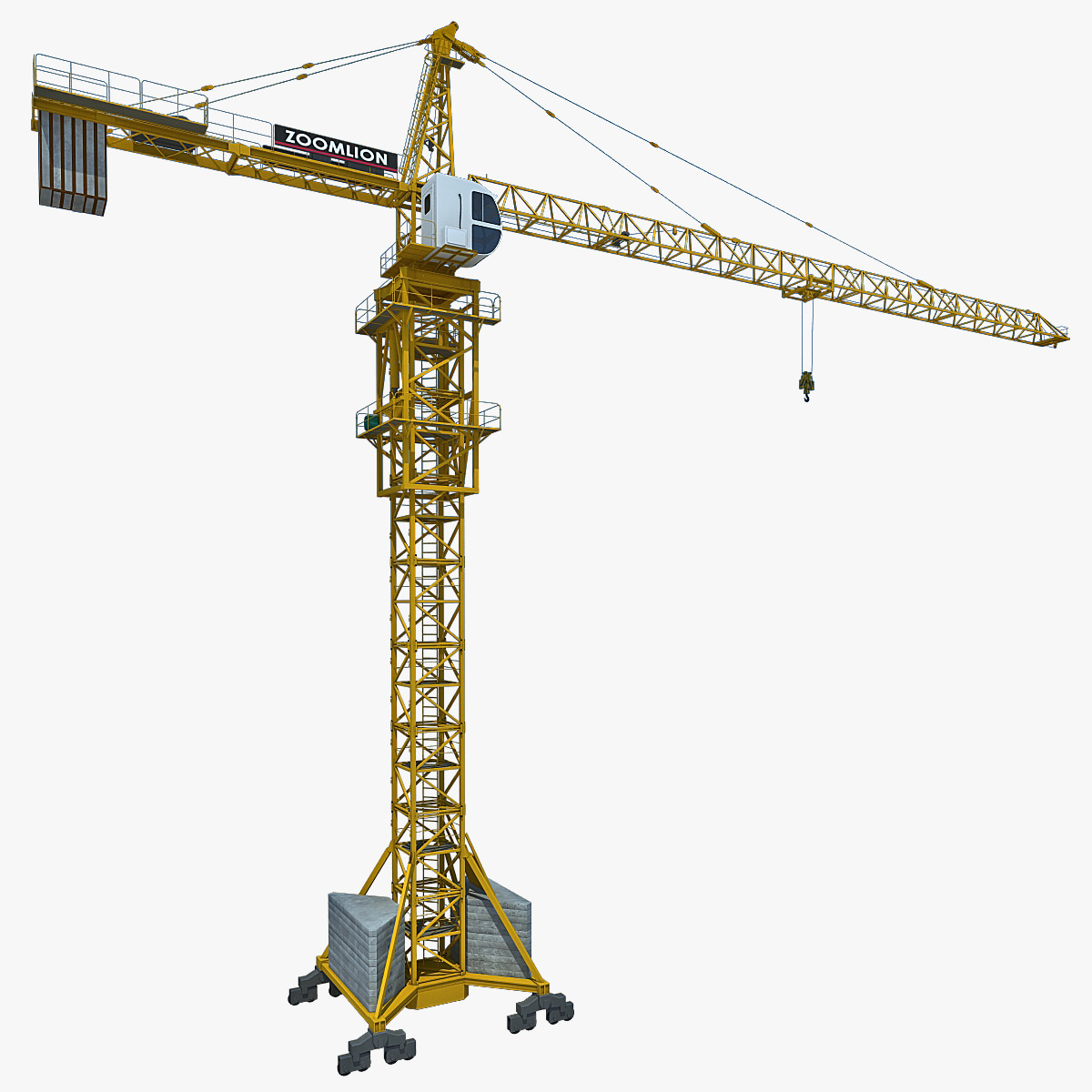 Tower crane animation : Tower crane d model