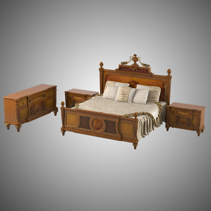 b  armando rho a 780 a780 a791 empire style marquetry classic bedroom set bed sideboard  commode 0001.jpg