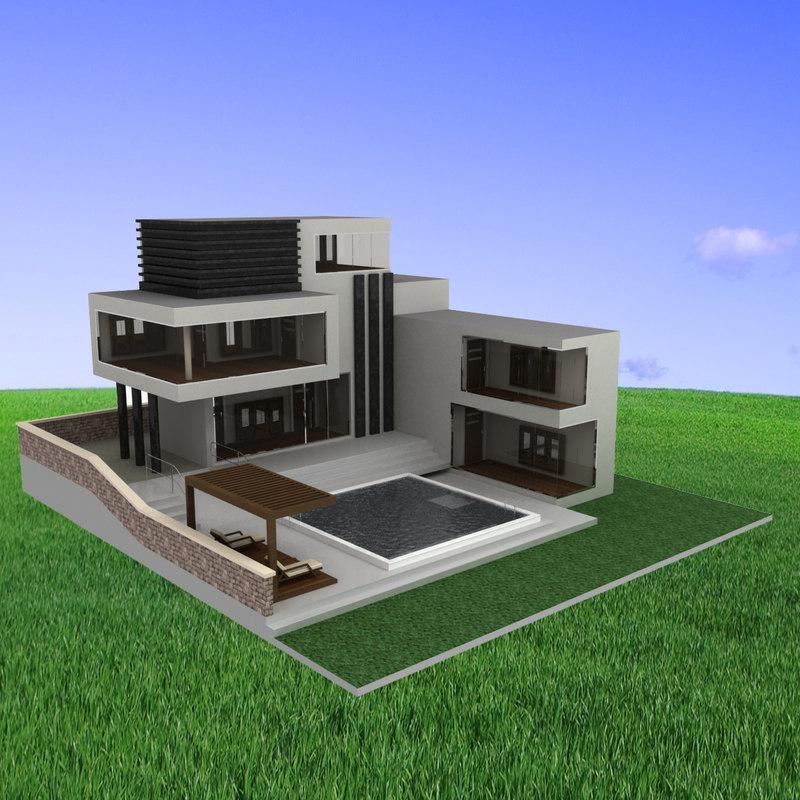 100 modern house 3d model free download modern house plans free download u2013 modern 3d house model maker