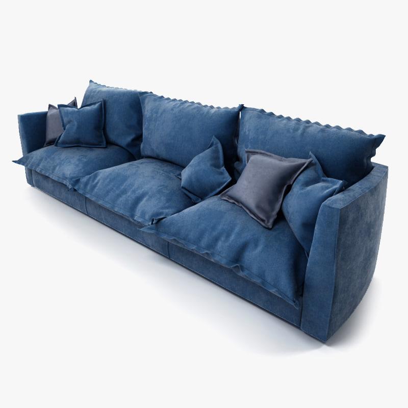 brest sofa baxter 3d max. Black Bedroom Furniture Sets. Home Design Ideas