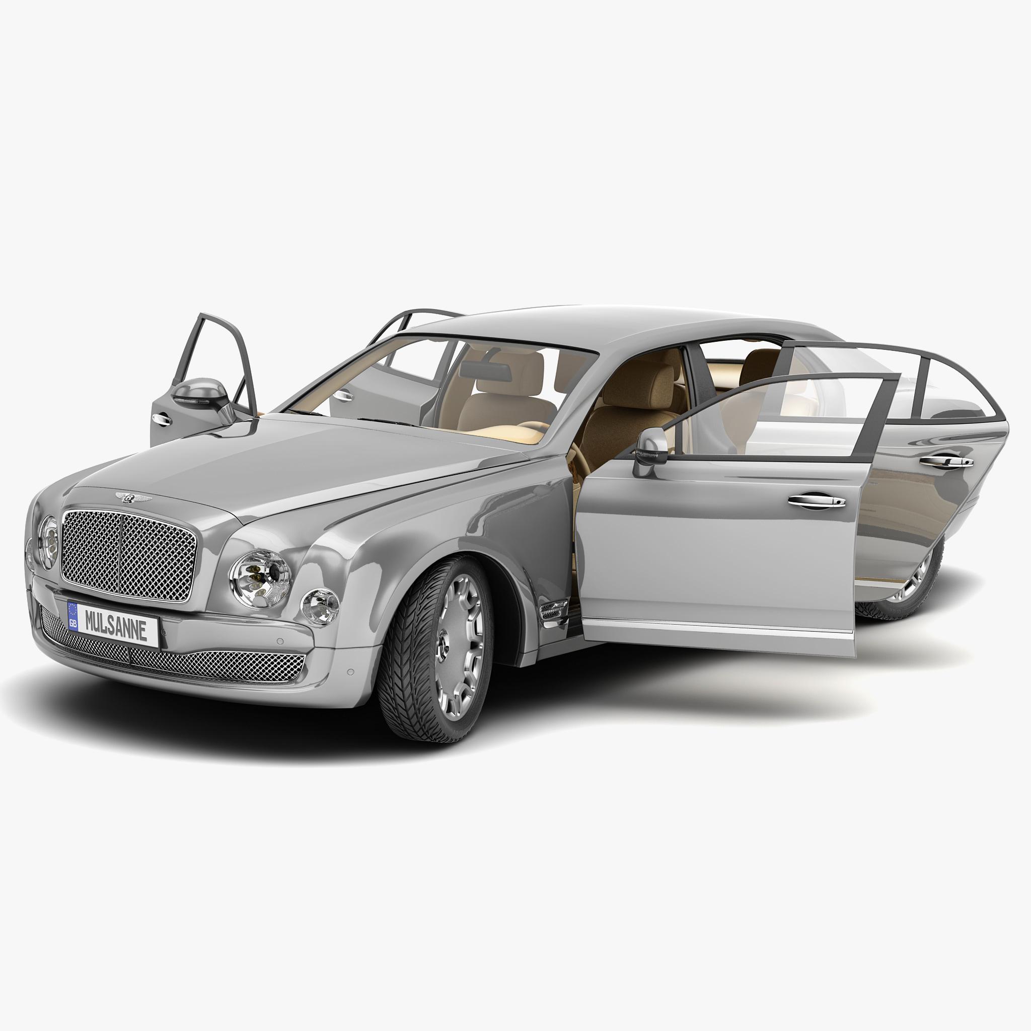 3d Model Bentley Mulsanne Mulliner 2013