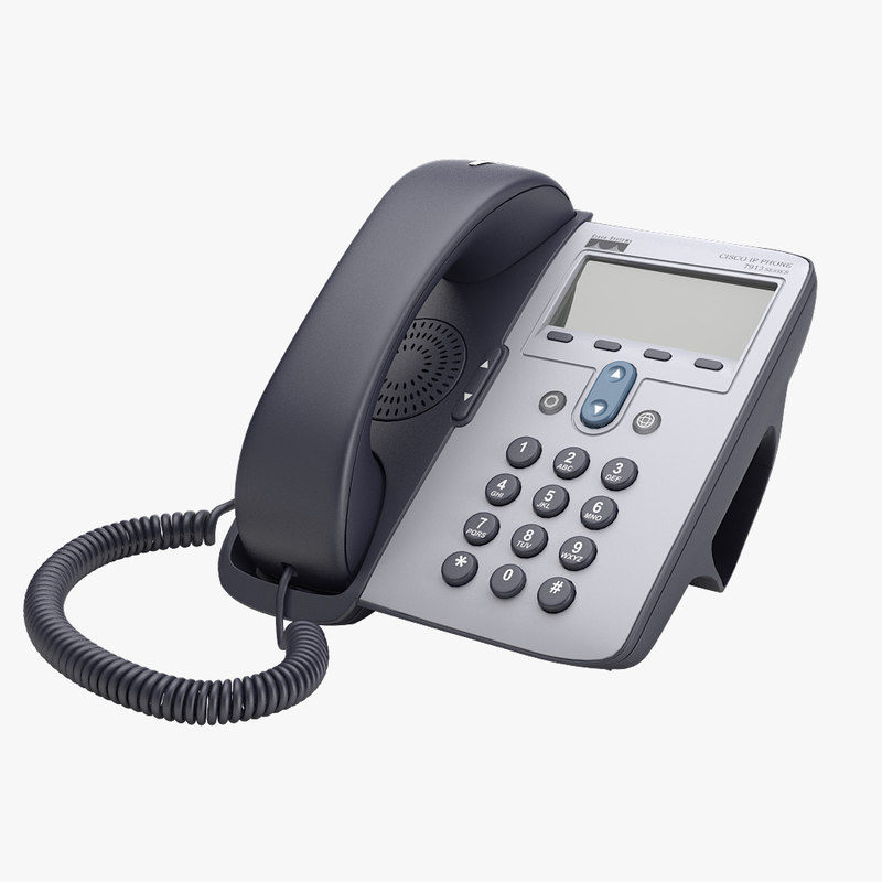 a Cisco ip corded telephone phone digital compact hotel equipmant office desk table device lcd  0001.jpg