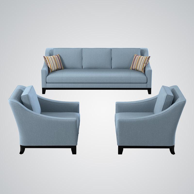 3d model baker neue sofa chair for Divan furniture models