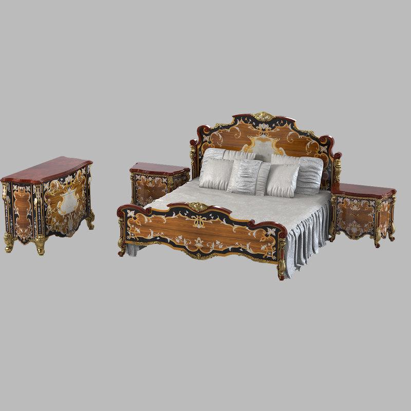 b  Armando Rho A914 A915 A932 Classic Baroque Bedroom Set a 914 915 932 empire classical0002.jpg