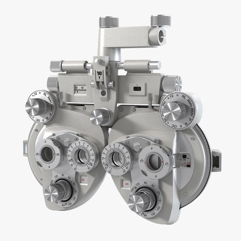 a Phoropter optometry instrument eye medicine diagnostic medical doctor hospital glasses lens 0001.jpg