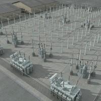 substation 3D models