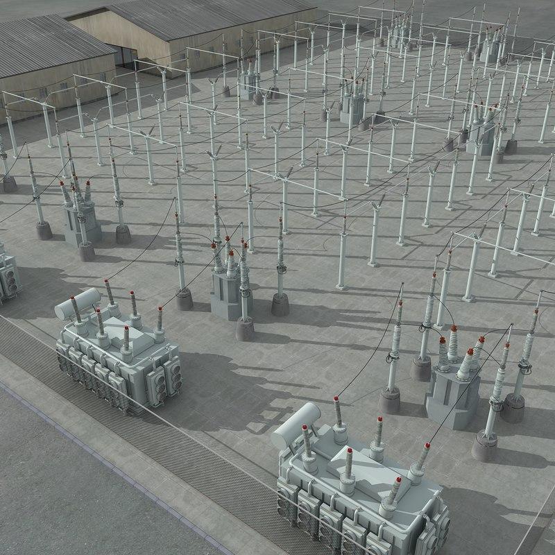 Electrical Substation Scene