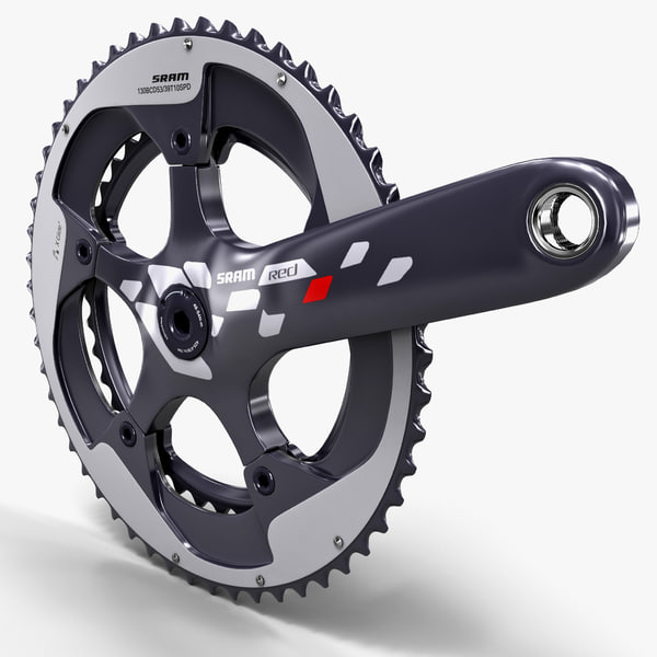 Bicycle Crankset Sram Red 130 3D Models