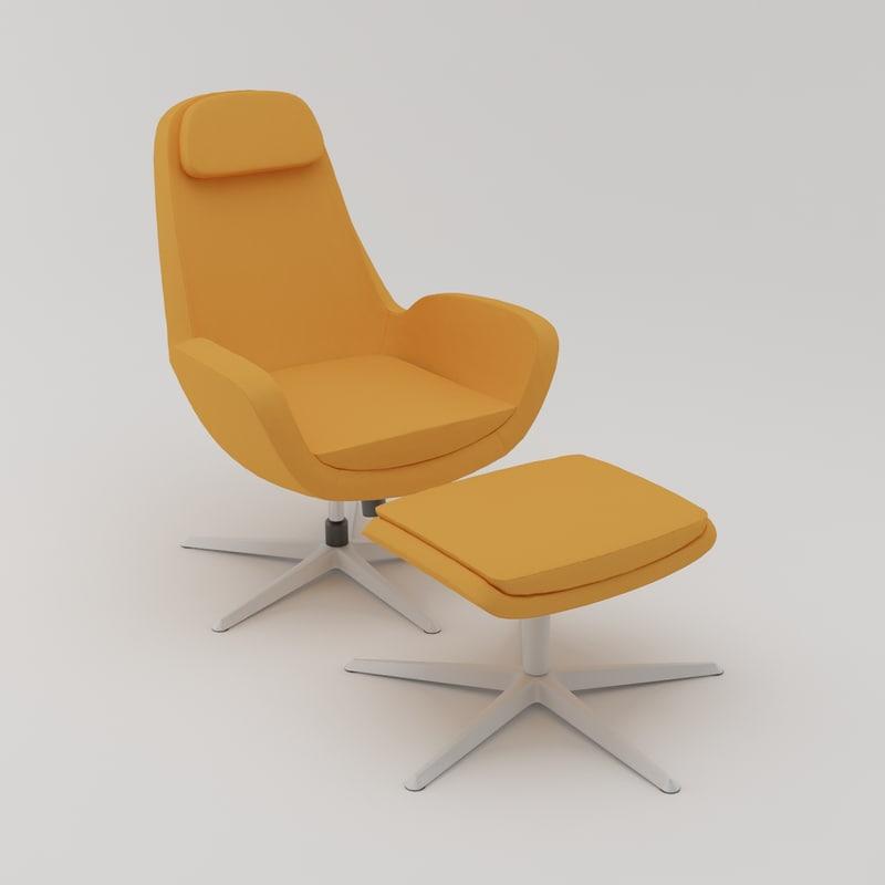 IKEA Karlstad Swivel Chair + Foot Stool 01.jpg