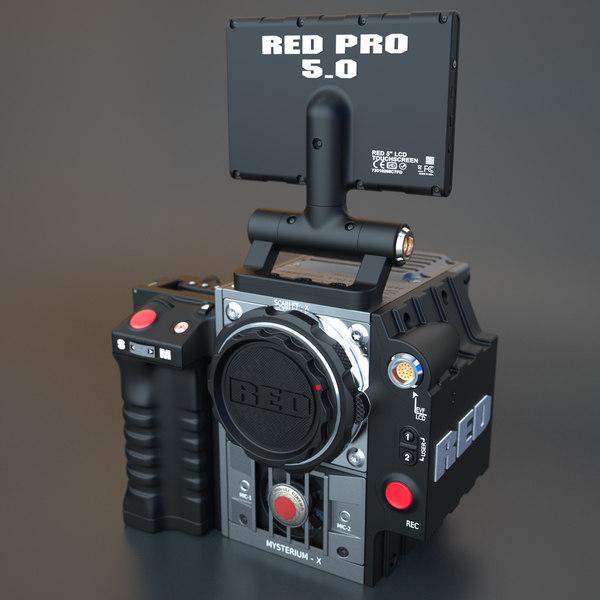 RED Scarlet Digital Cinema Camera 3D Models