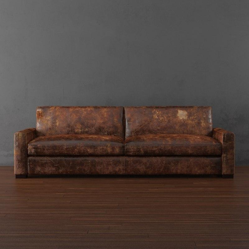 maxwell leather sleeper sofa 3d max