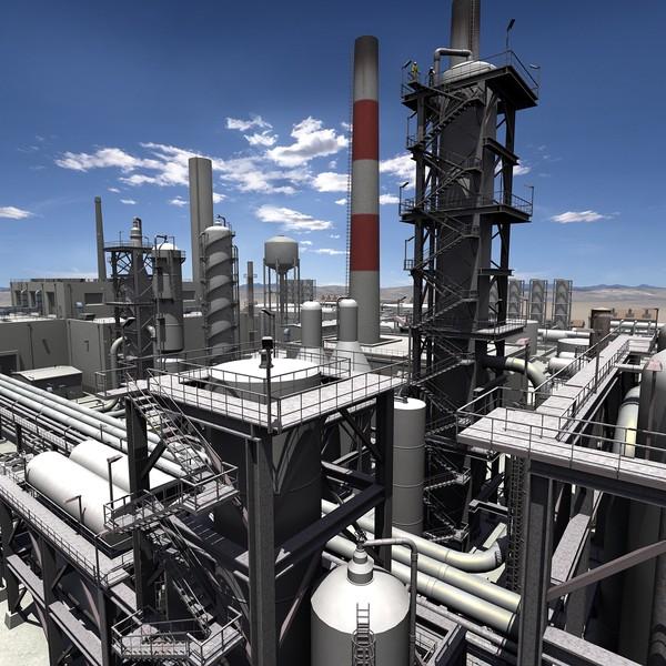 Refinery 3D Models