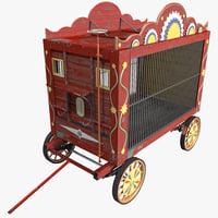circus wagon 3D models