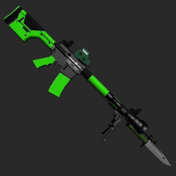 Zombie M16 3D Models